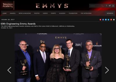 Academy of Television Arts & Sciences: 69th Engineering Emmy Awards