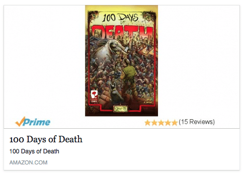 100 Days of Death Graphic Novel Now on Amazon