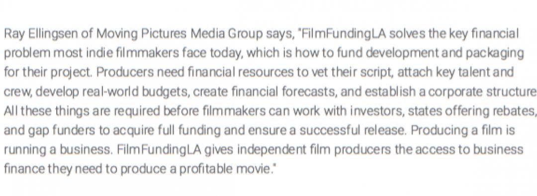 Ray Ellingsen x FilmFundingLA