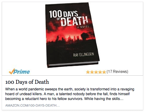 Amazon Link to 100 Days of Death Novel
