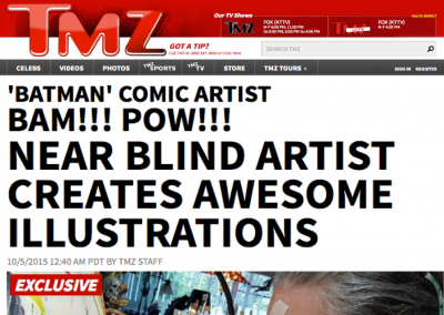 "TMZ: Batman Artist Illustrates ""100 Days of Death"""