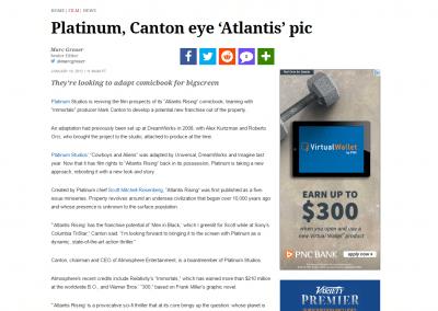 "Variety: Platinum Studios to Adapt ""Atlantis Rising"""