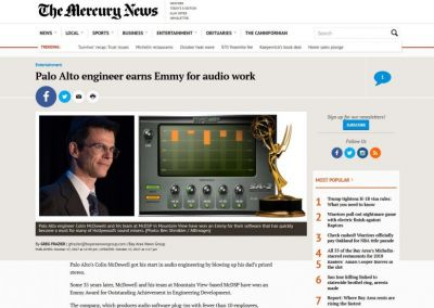 The Mercury News: Palo Alto engineer earns Emmy for audio work
