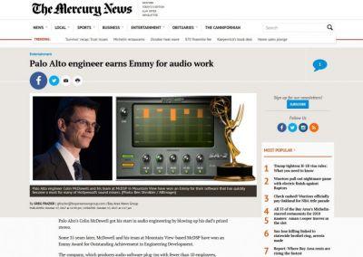 The Mercury News: Palo Alto engineer earns Emmy for audio work